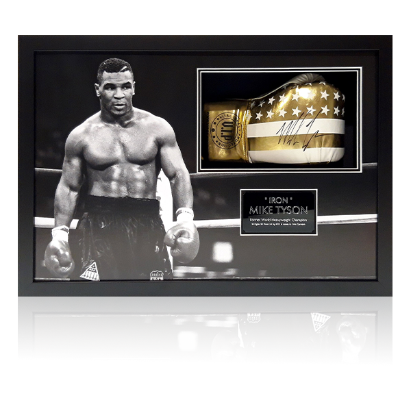 Mike Tyson Signed Glove Framed Display