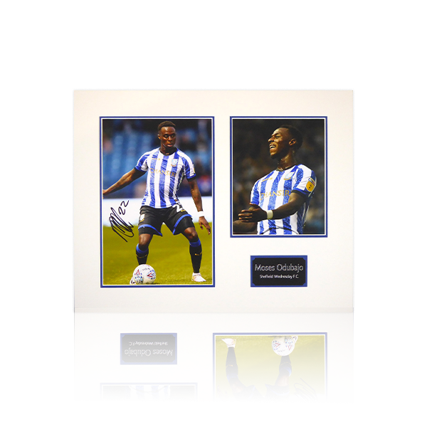 Moses Odubajo (Sheffield Wednesday) Signed Mount Display