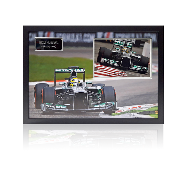 Nico Rosberg Mercedes AMG Signed Framed Display