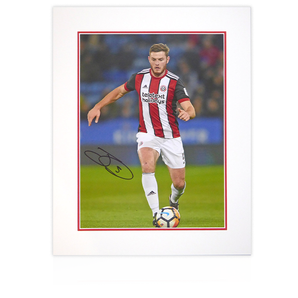 Jack O'Connell (Sheffield United) Signed Mount Display