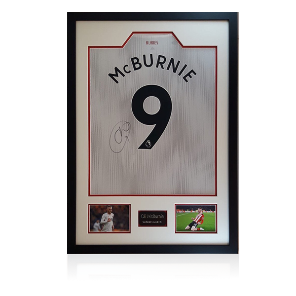 Oli McBurnie Signed Sheffield United Away Shirt