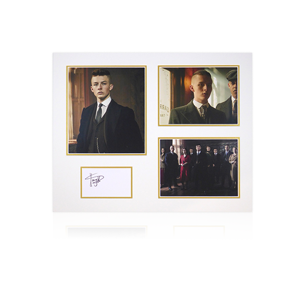 Peaky Blinders - Harry Kirton (Finn Shelby) Signed Mount Display