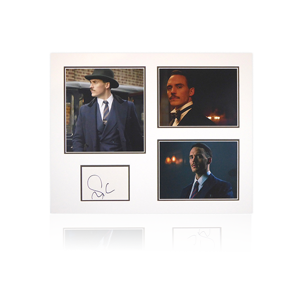 Peaky Blinders - Sam Claflin (Oswald Mosley) Signed Mount Display