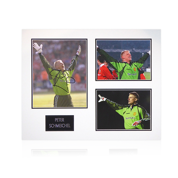 Peter Schmeichel (Manchester United) Signed Mount Display