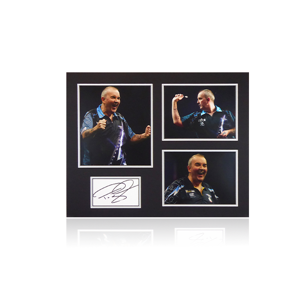 Phil Taylor Signed Mount Display