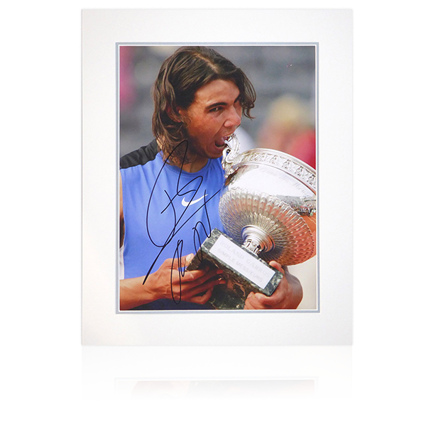 Rafa Nadal Signed Mount Display