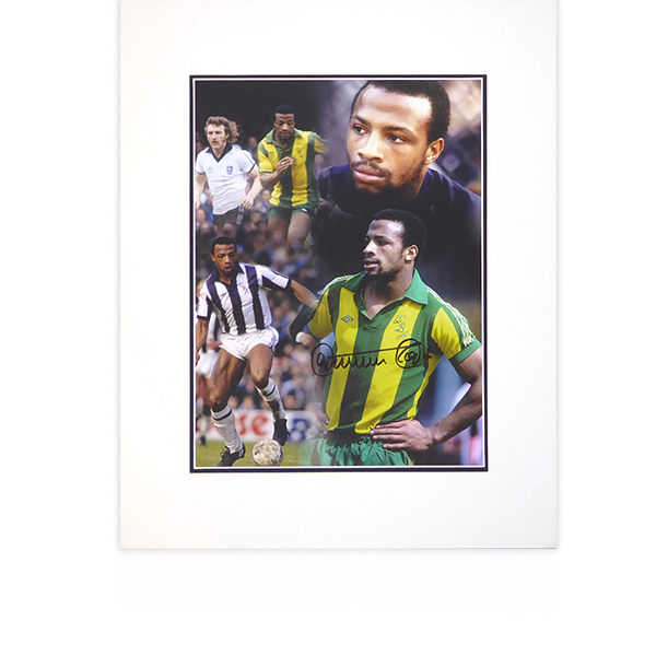 Cyrille Regis (West Bromwich Albion) Signed Mount Display