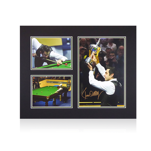 Ronnie O'Sullivan Signed Mount Display