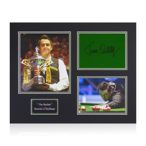 Ronnie O'Sullivan Signed Baize Display