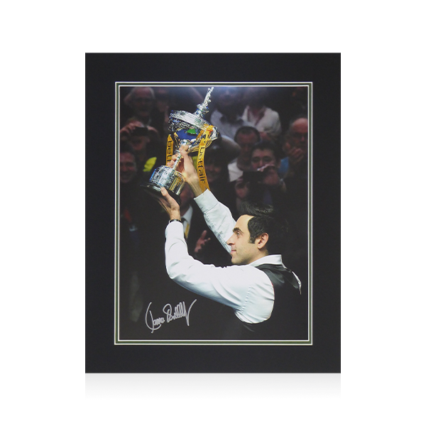 Ronnie O'Sullivan Signed 500x400mm Mount (3)