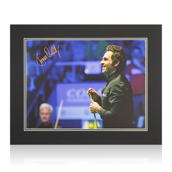 Ronnie O'Sullivan Signed 500x400 Mount