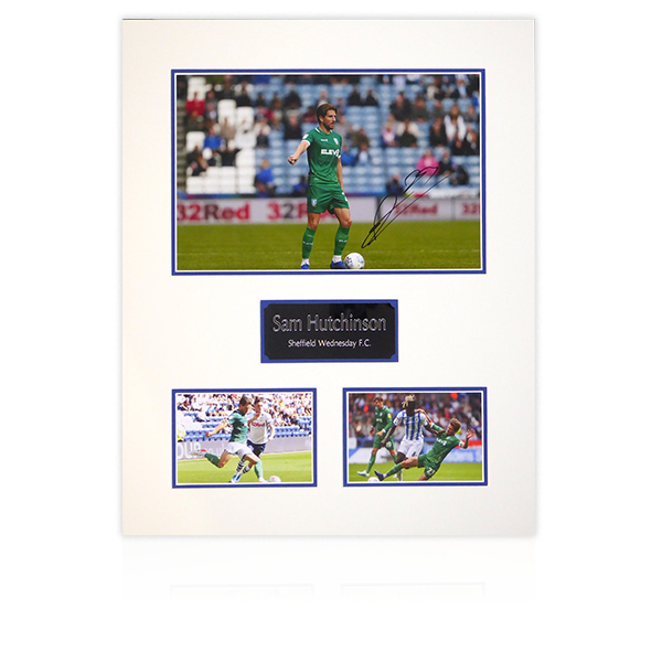 Sam Hutchinson (Sheffield Wednesday) Signed Mount Display