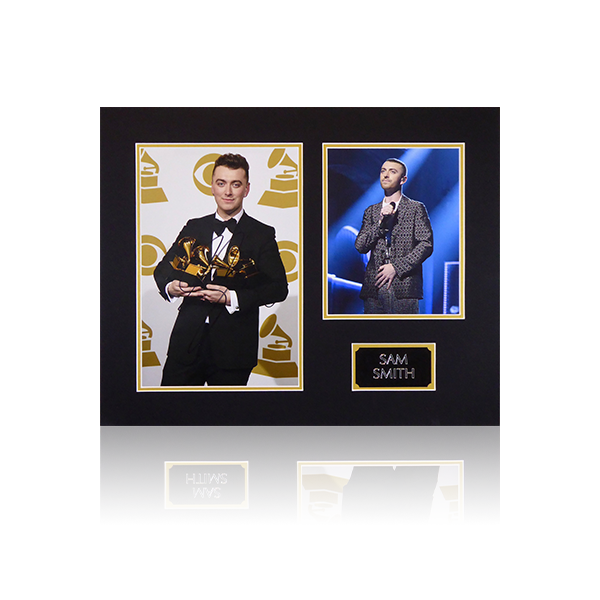 Sam Smith Signed Mount Display w/Plaque