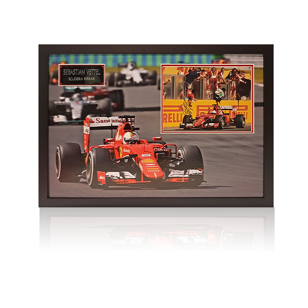 Sebastian Vettel Signed Framed Display