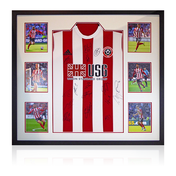 Sheffield United Squad Signed Shirt Display
