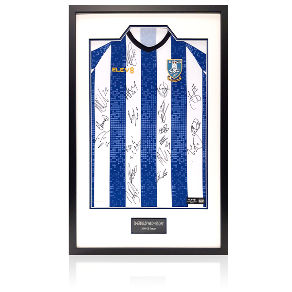 Sheffield Wednesday Team Signed Home Shirt 19-20 Season Display