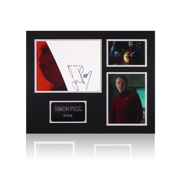 "Simon Pegg ""Scotty"" Star Trek Mount Display"