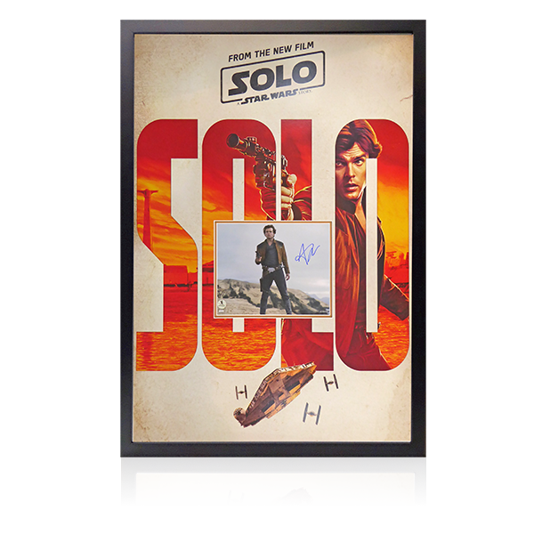 Alden Ehrenreich Signed Solo Star Wars Signed Display