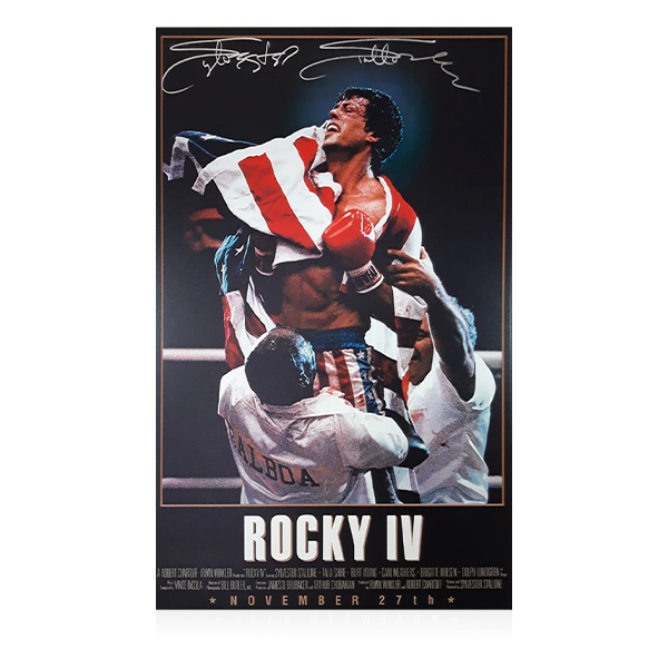 Sylvester Stallone Signed Rocky 4 Canvas