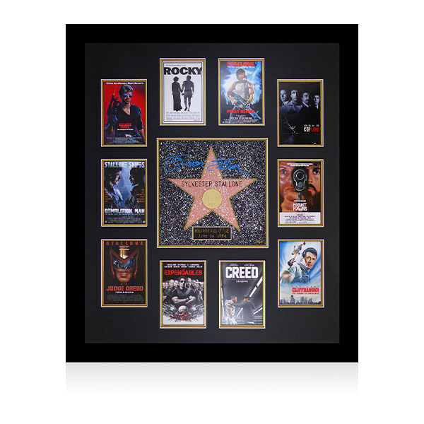 Sylvester Stallone Signed Walk Of Fame Star