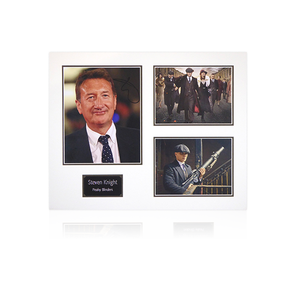 Peaky Blinders - Steven Knight (Show Writer) Signed Mount Display