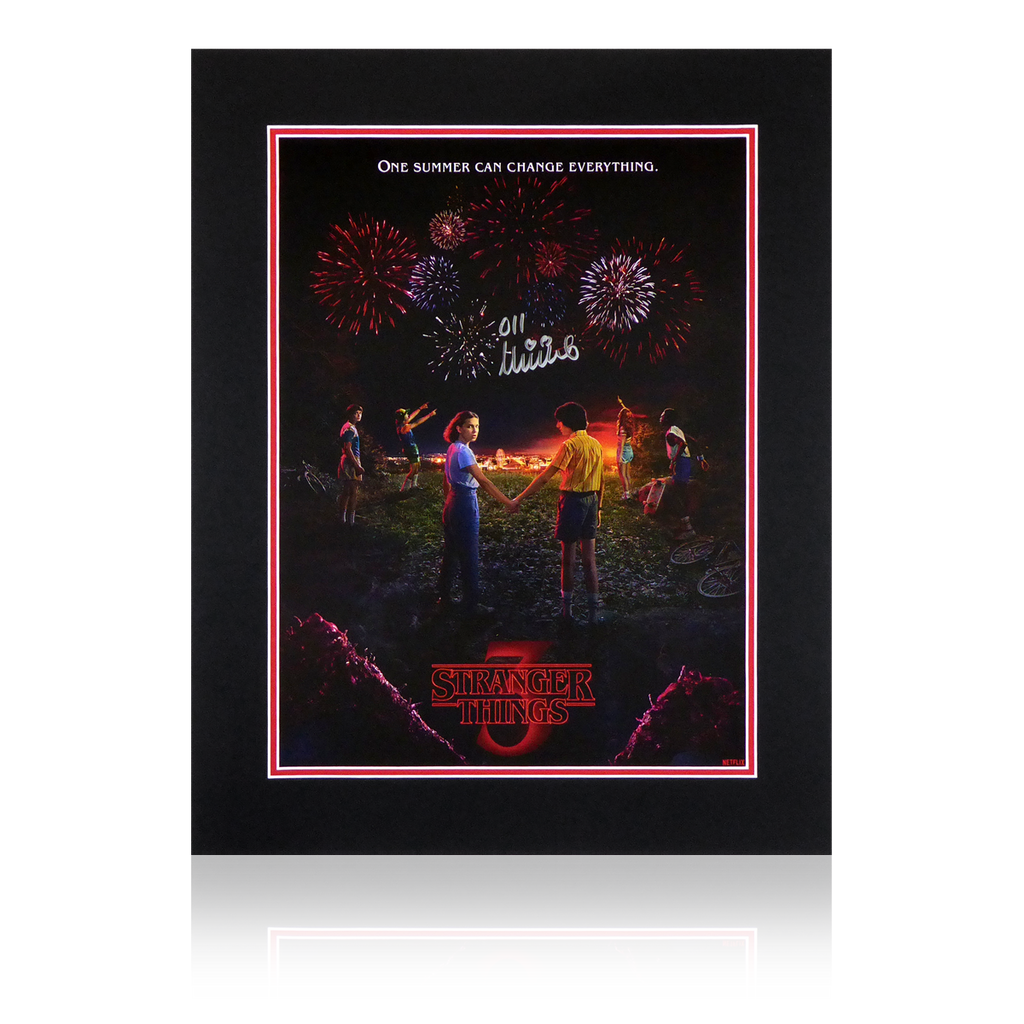 Millie Bobby Brown Stranger Things Signed Display 2