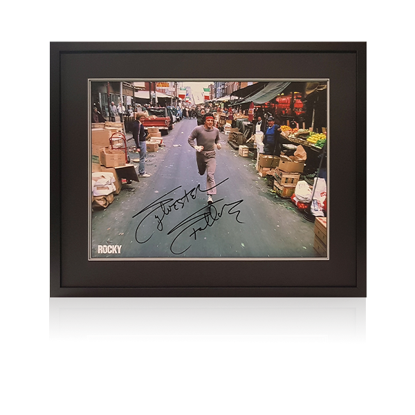 Rocky - Sylvester Stallone (Canvas) Signed Framed Display
