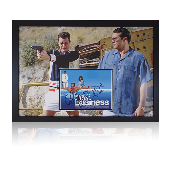 Danny Dyer and Tamar Hassan Signed The Business Display