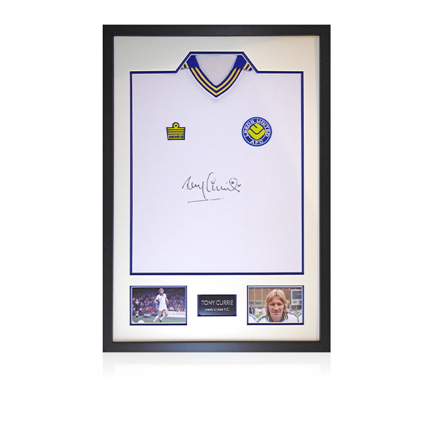 Tony Currie Signed Leeds Shirt Display