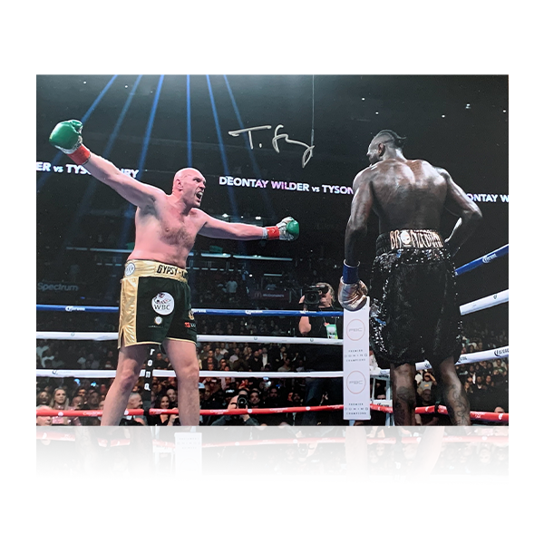 Tyson Fury Signed 16x12 Image/Wilder