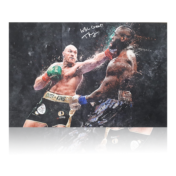 Tyson Fury Signed Large WBC Champ Canvas