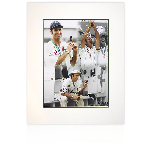 Michael Vaughan Signed Mount Display