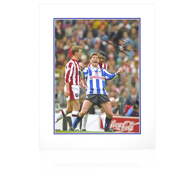 Chris Waddle Signed 16x12 Sheffield Wednesday Semi Final Display (Portrait)