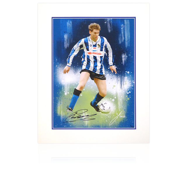 Chris Waddle Signed Limited Edition Sheffield Wednesday Artwork