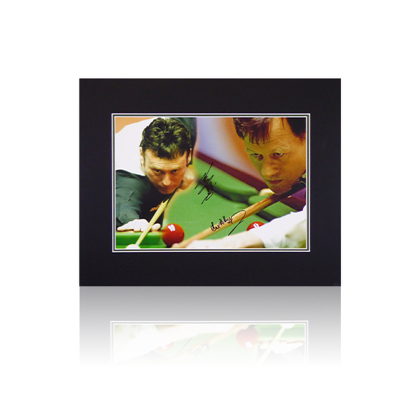 Alex Higgins / Jimmy White Signed Mount Display