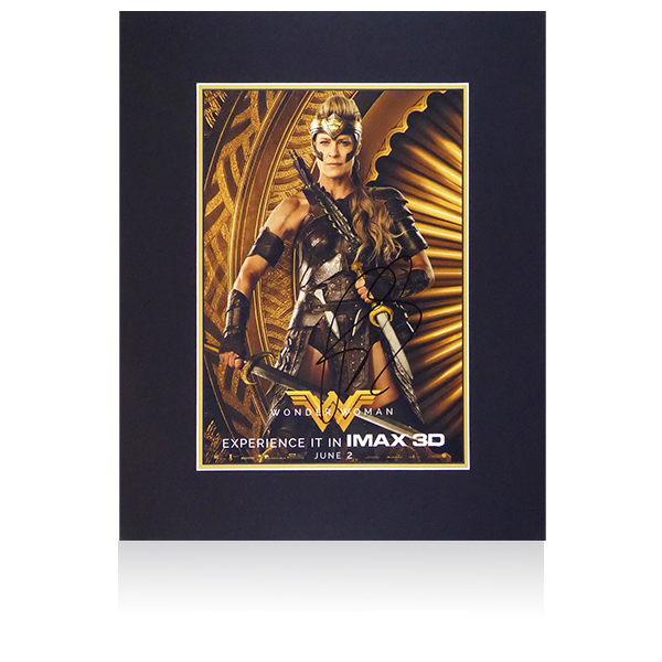 Wonder Woman - Robin Wright (Antiope) Signed Mount Display (film poster)
