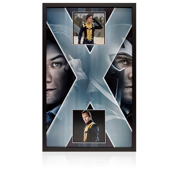 James McAvoy/Michael Fassbender Signed Framed Display