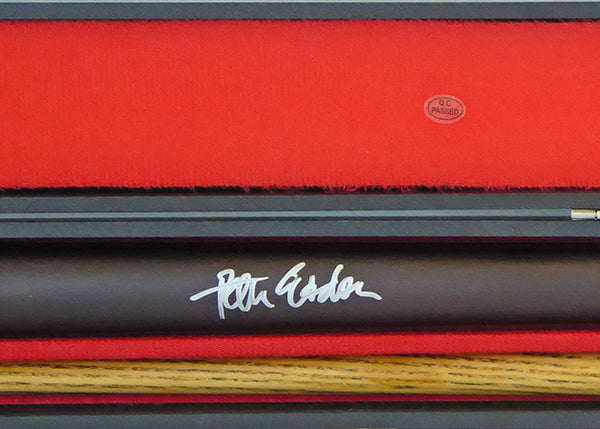 Peter Ebdon Signed Cue With Display Case