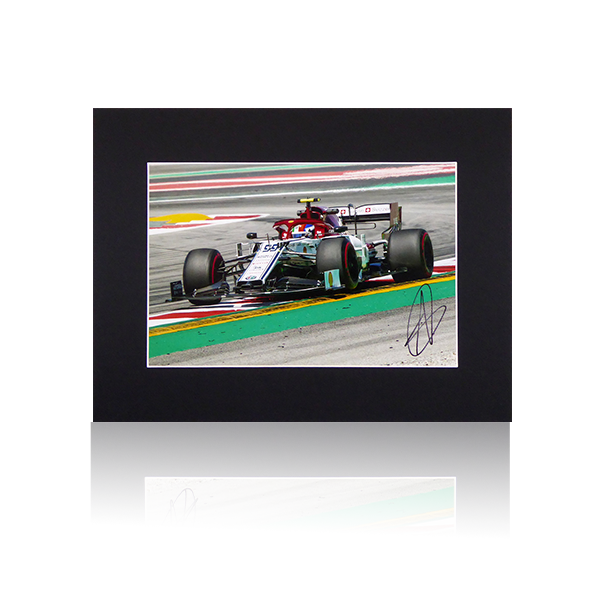 Antonio Giovinazzi Alfa Romeo Signed Mount Display