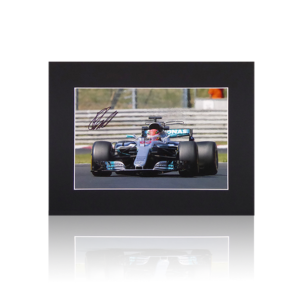 George Russell Mercedes Signed Mount Display