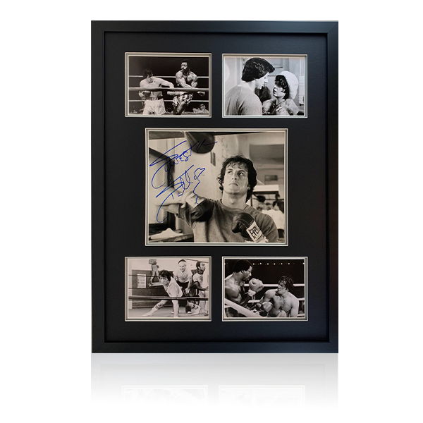 Sylvester Stallone Signed Display