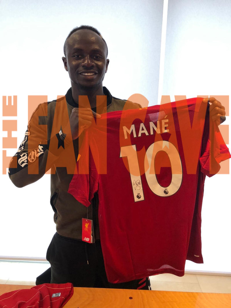 Mane Signed Shirt & Winners Medal Display