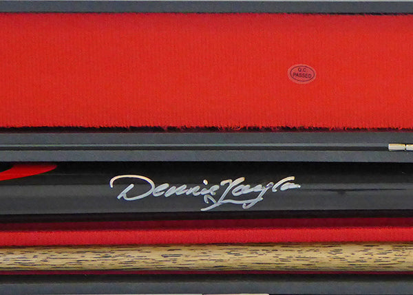 Dennis Taylor Signed Cue With Display Case