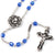 Mary's Motherly Love Collection Blue & Silver Rosary - 5mm