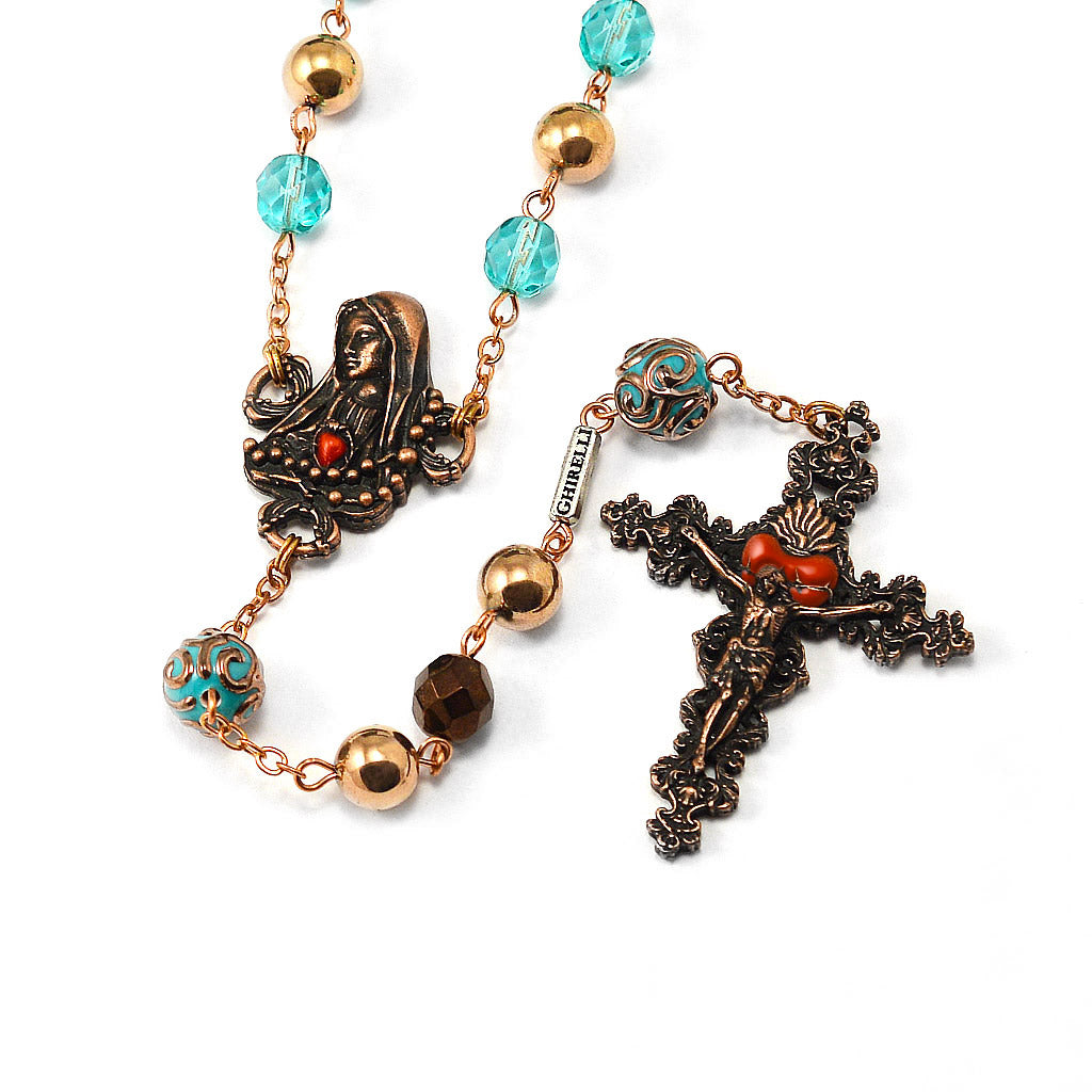 Our Lady of Fatima Rosary with Hematite Beads