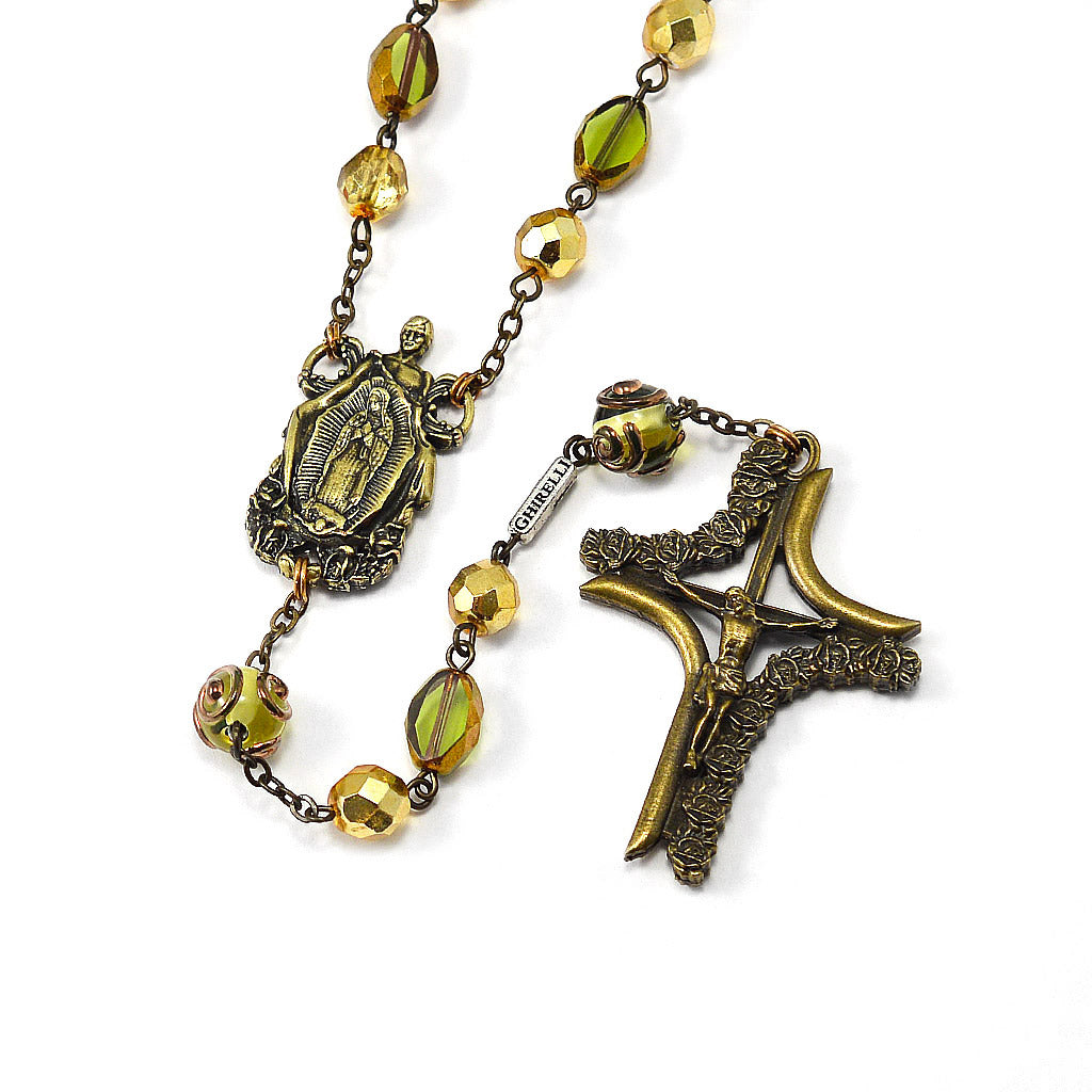 Our Lady of Guadalupe & Saint Juan Diego Rosary with Lumen Beads