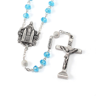 Medjugorje Queen of Peace Rosary, Aqua