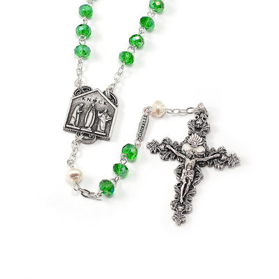 Our Lady of Knock Queen of Ireland with Bohemian Glass Beads