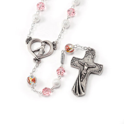 Wedding Rosary for the Bride with Swarovski Elements