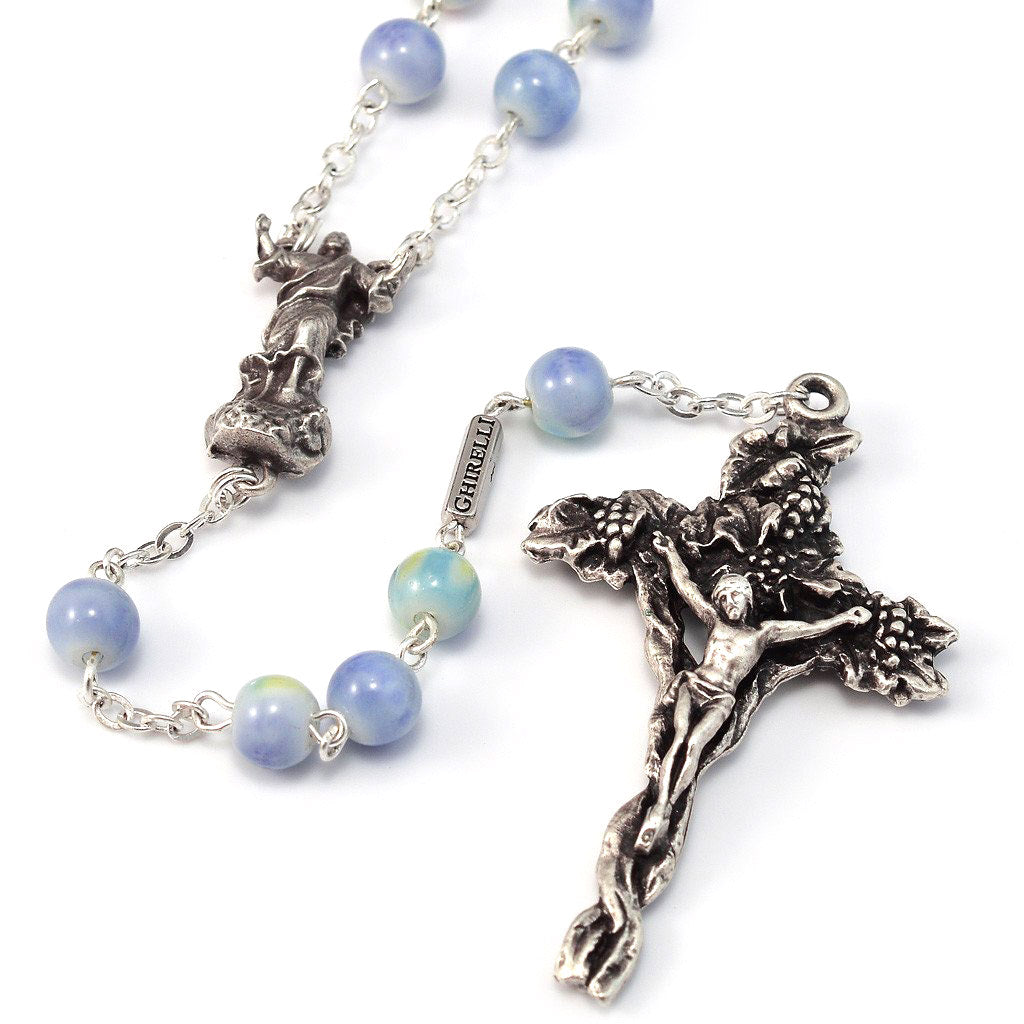 Holy Easter Glass & Silver Rosary